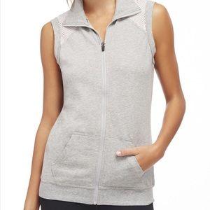 Fabletics Temecula Mesh Gray Vest